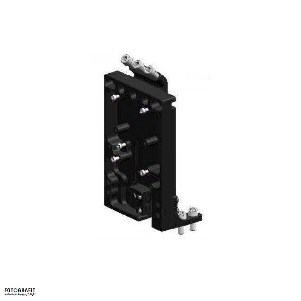Adapter plate for V-mount battery systems