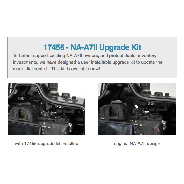 Upgrade kit to convert NA-A7II for use with Sony A7RII camera